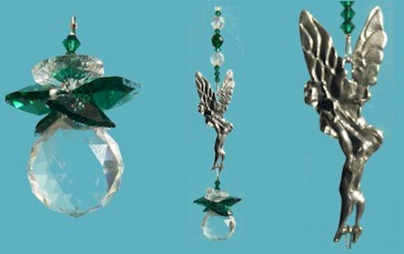 Cheeky Fairy Austrian Crystal & Pewter Suncatcher